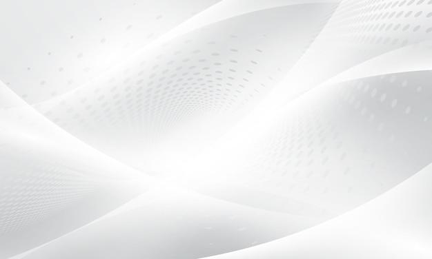 Affiche de fond blanc abstrait avec dynamique. réseau technologique illustration vectorielle.