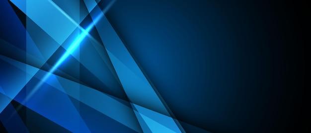 Affiche de fond bleu abstrait avec dynamique. réseau technologique illustration vectorielle.