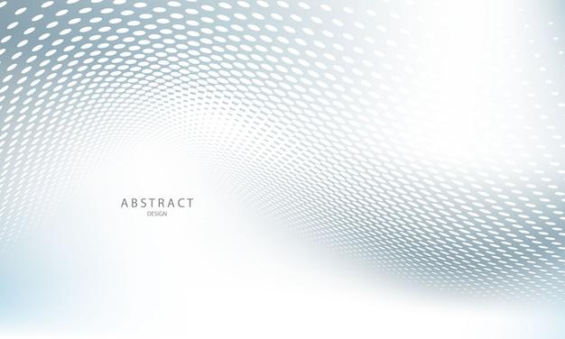 Affiche de fond gris abstrait avec des vagues dynamiques. réseau technologique.