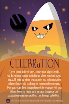 Affiche de fond d'halloween