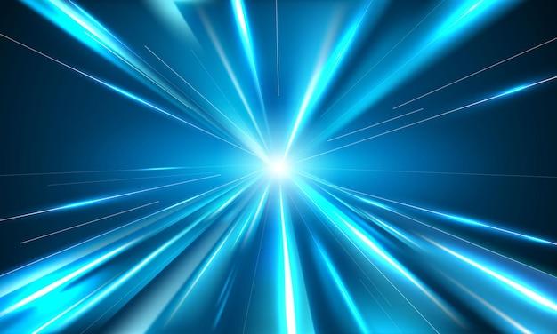 Affiche de fond de ligne de vitesse abstraite avec dynamique. réseau technologique illustration vectorielle.