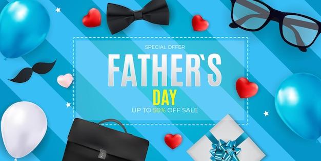 Affiche de fond de vente de fête des pères