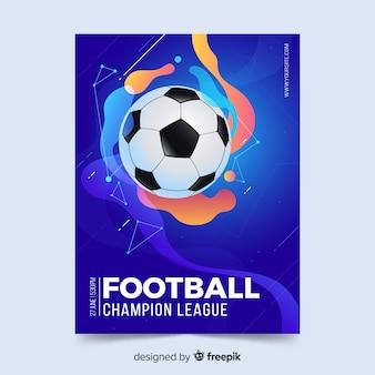 Affiche de football modèle effet liquide