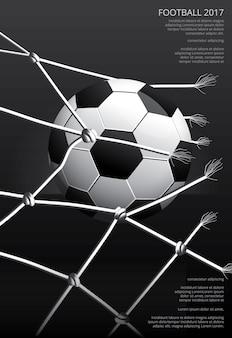 Affiche de football soccer illustration vestor