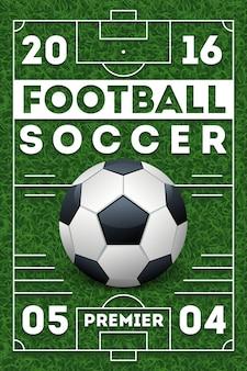 Affiche de football avec terrain
