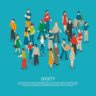Affiche de foule de personnes