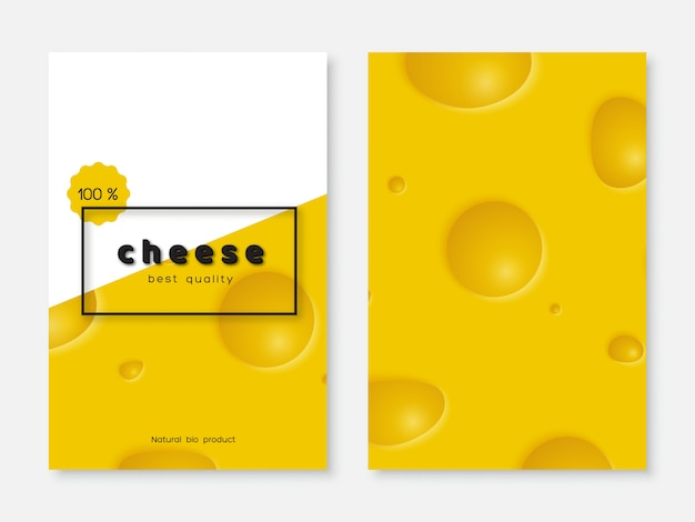 Affiche de fromage, conception de menus.