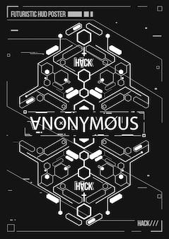Affiche futuriste de cyberpunk. modèle d'affiche futuriste rétro. disposition de musique électronique.