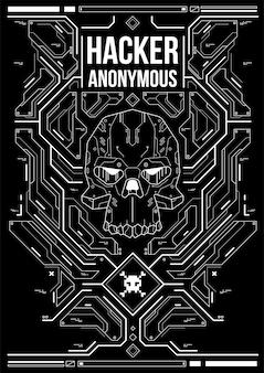 Affiche futuriste de cyberpunk. modèle d'affiche futuriste rétro. modèle d'affiche abstraite tech.