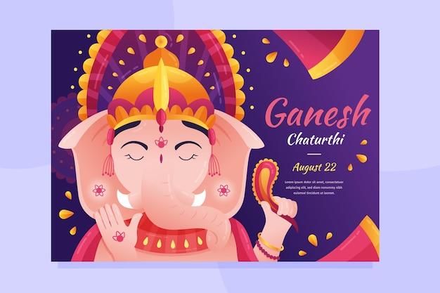 Affiche de ganesh chaturthi dessin