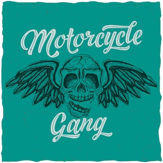 Affiche de gang de motards