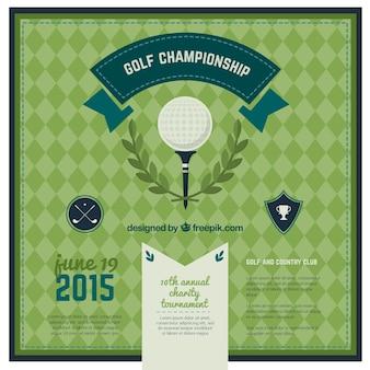 Affiche de golf de championnat