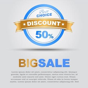 Affiche de grande vente