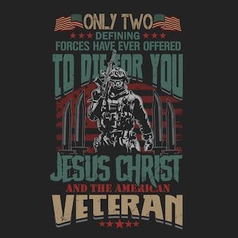 Affiche de la guerre mondiale armée américaine vétéran
