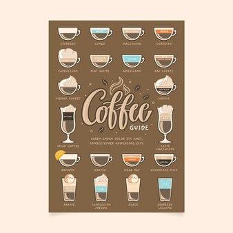 Affiche de guide de café pour l'été et l'hiver