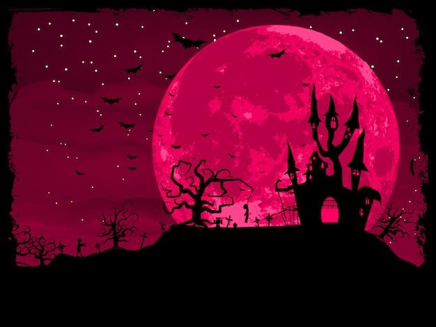 Affiche d'halloween avec fond de zombie. fichier inclus