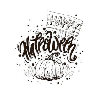 Affiche de halloween heureux