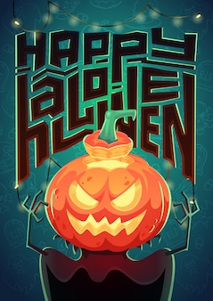Affiche d'halloween. illustration