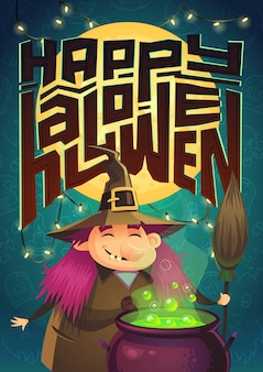 Affiche d'halloween. illustration