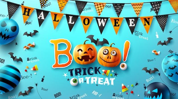 Affiche d'halloween avec texte