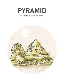 Affiche historique de la pyramide égyptienne