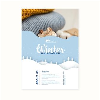 Affiche d'hiver a4 concept