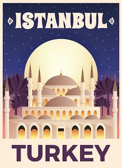 Affiche d'illustration de dinde d'istambul prête à imprimer