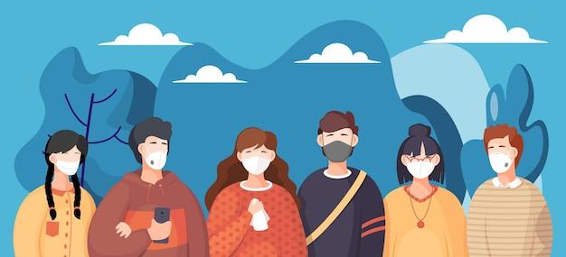 Affiche avec illustration de personnages de dessins animés