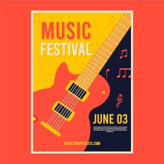 Affiche illustrée de musique design