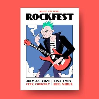 Affiche illustrée de musique style