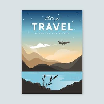 Affiche illustrée de voyage design