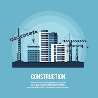 Affiche de l'industrie de la construction