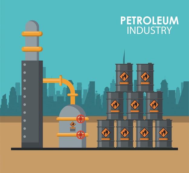 Affiche de l'industrie pétrolière