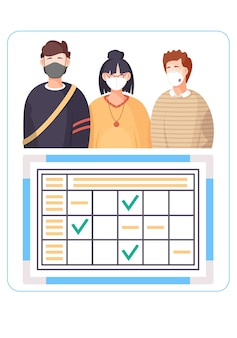 Affiche d'information sur la propagation du virus.