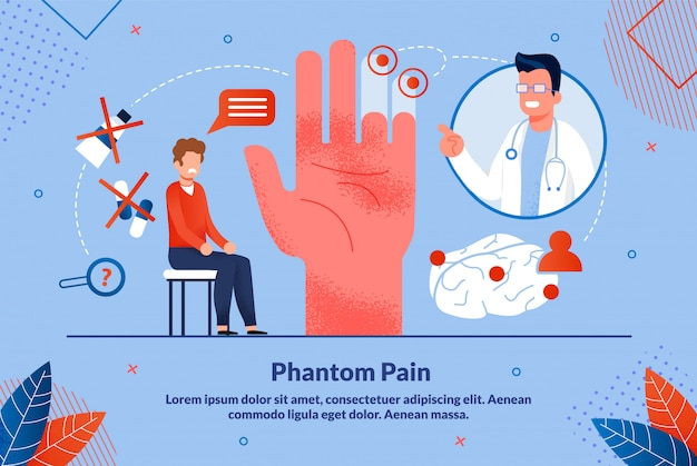 L'affiche informative est écrite sur la douleur fantôme.