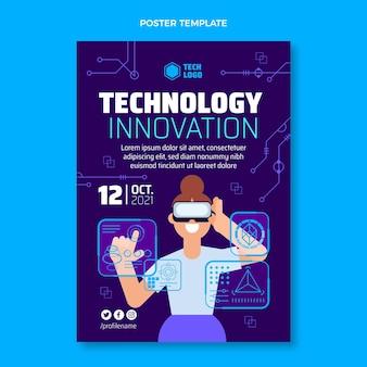 Affiche d'innovation technologique de conception plate