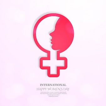Affiche internationale de la journée des femmes.