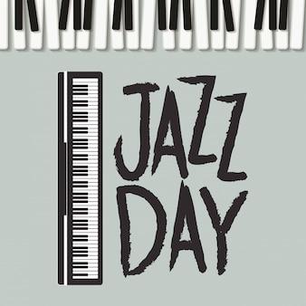 Affiche jazz day avec clavier de piano