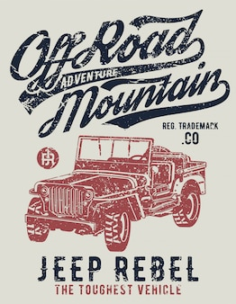 Affiche jeep off road