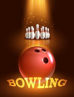 Affiche de jeu de bowling
