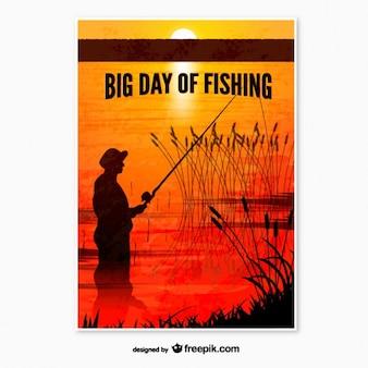 Affiche de jour de pêche