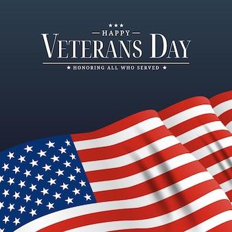 Affiche de la journée des anciens combattants des états-unis. illustration vectorielle. eps10