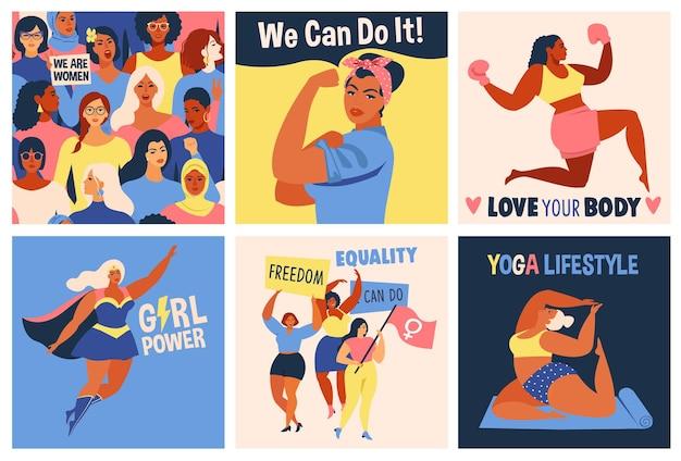 Affiche de la journée internationale des femmes, nous pouvons le faire