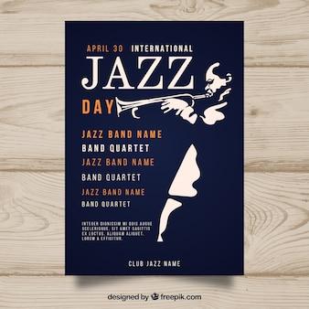 Affiche de la journée internationale de jazz au design plat