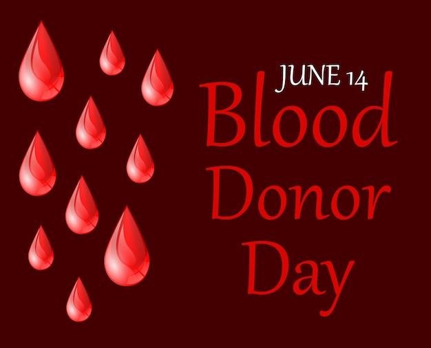 Affiche de la journée mondiale des donneurs de sang