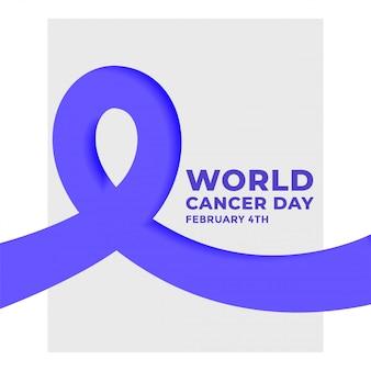 Affiche de la journée mondiale du cancer le 4 février