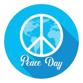 Affiche de la journée mondiale de la paix hippie affiche internationale de vacances