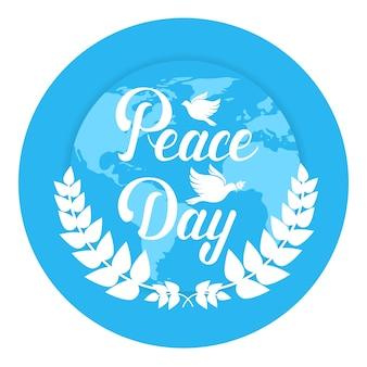 Affiche de la journée mondiale de la paix terre vacances internationales