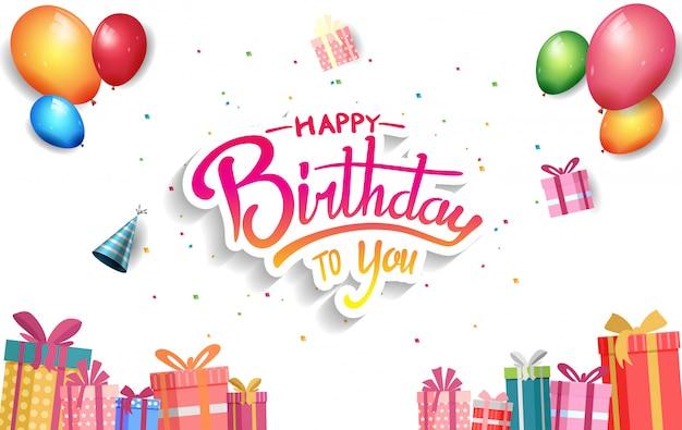 Affiche de joyeux anniversaire pour la fête de célébration