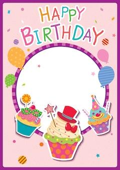 Affiche de joyeux anniversaire